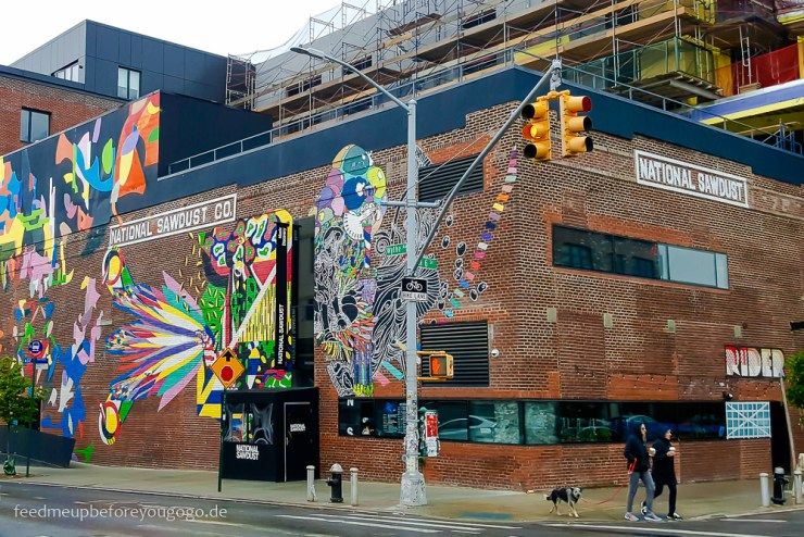 Williamsburg National Sawdust Mural Street Art Brooklyn New York