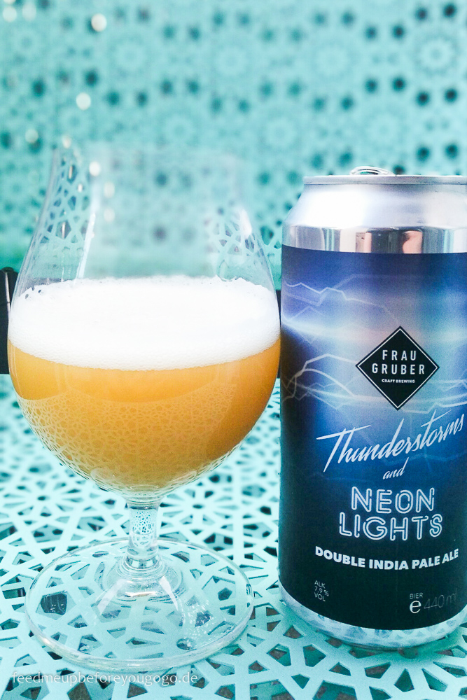 Thunderstorms and Neon Lights NEIPA Frau Gruber Bier