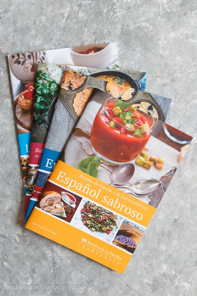 Rezepthefte der Sprachzeitung Sprachen lernen beim Kochen