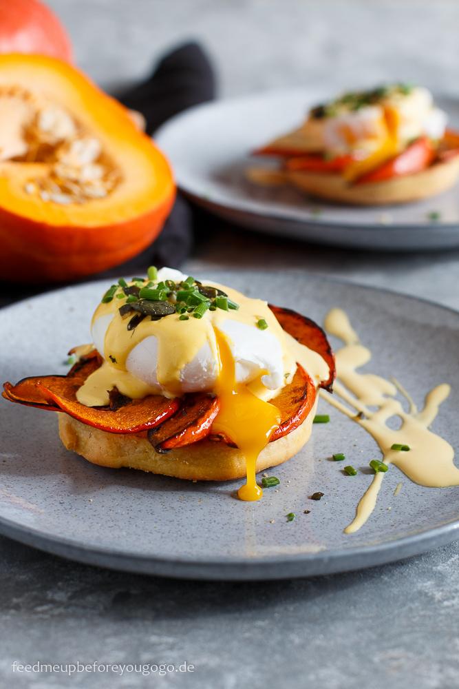 Vegetarische Kürbis-Eggs-Benedict Rezept