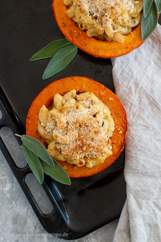 Mac and Cheese aus dem Kürbis Rezept