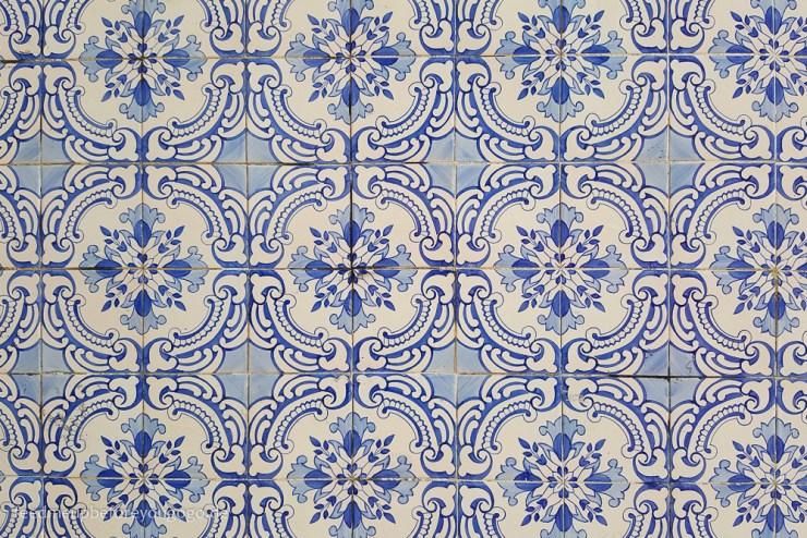 Blaue Kacheln Azulejos Lissabon Portugal