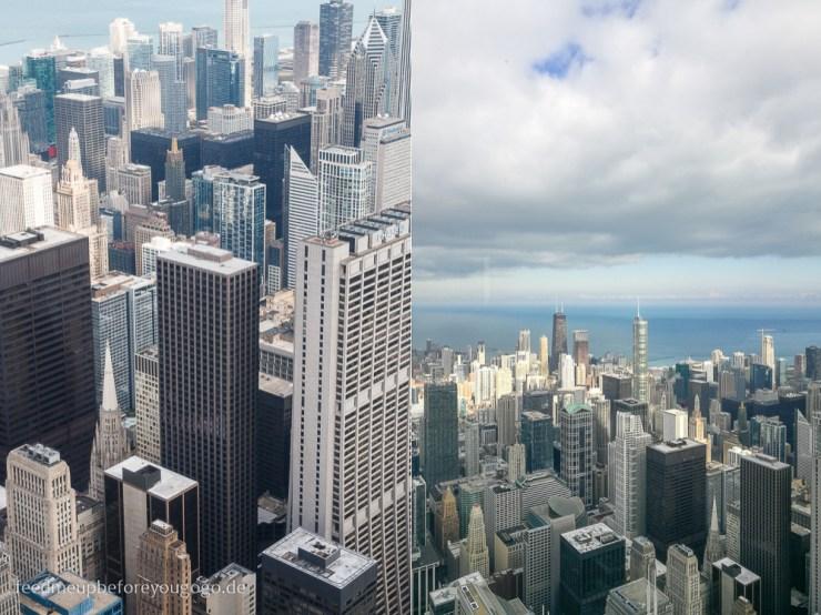 Chicago von oben Skydeck Aussichtsplattform Downtown