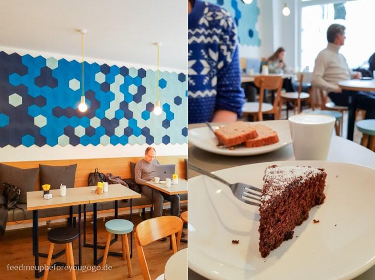Café Blá isländisches Café München Lakritz-Schokoladen-Kuchen