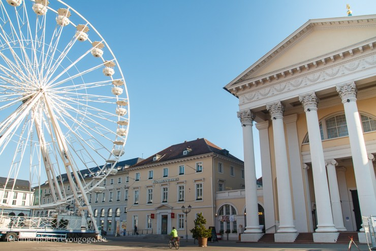 Reisetipps Karlsruhe Marktplatz mit Riesenrad