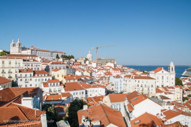 Ausblick auf Lissabon kulinarische Tipps