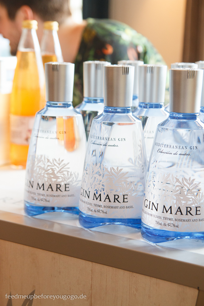 Gin Mare Flaschen MedTransfers Food-Pairing-Festival in München