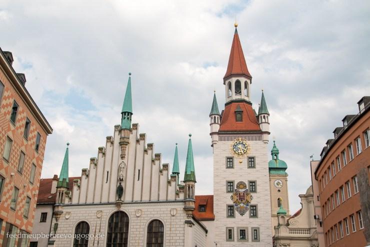 Marienplatz alter Rathausturm Reisetipps für ein Wochenende in München
