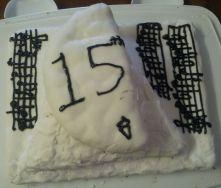 Layered cake, one used this recipe.
