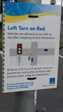 I didn't cross here but these are new on certain intersections and great if you're the driver waiting to turn left.