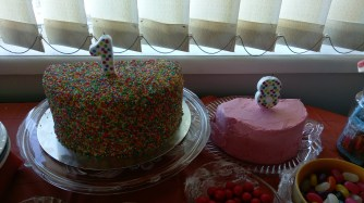 The cake at the 2nd party.