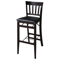 "Linon Triena 30"" Mission Back Wood Folding Bar Stool"