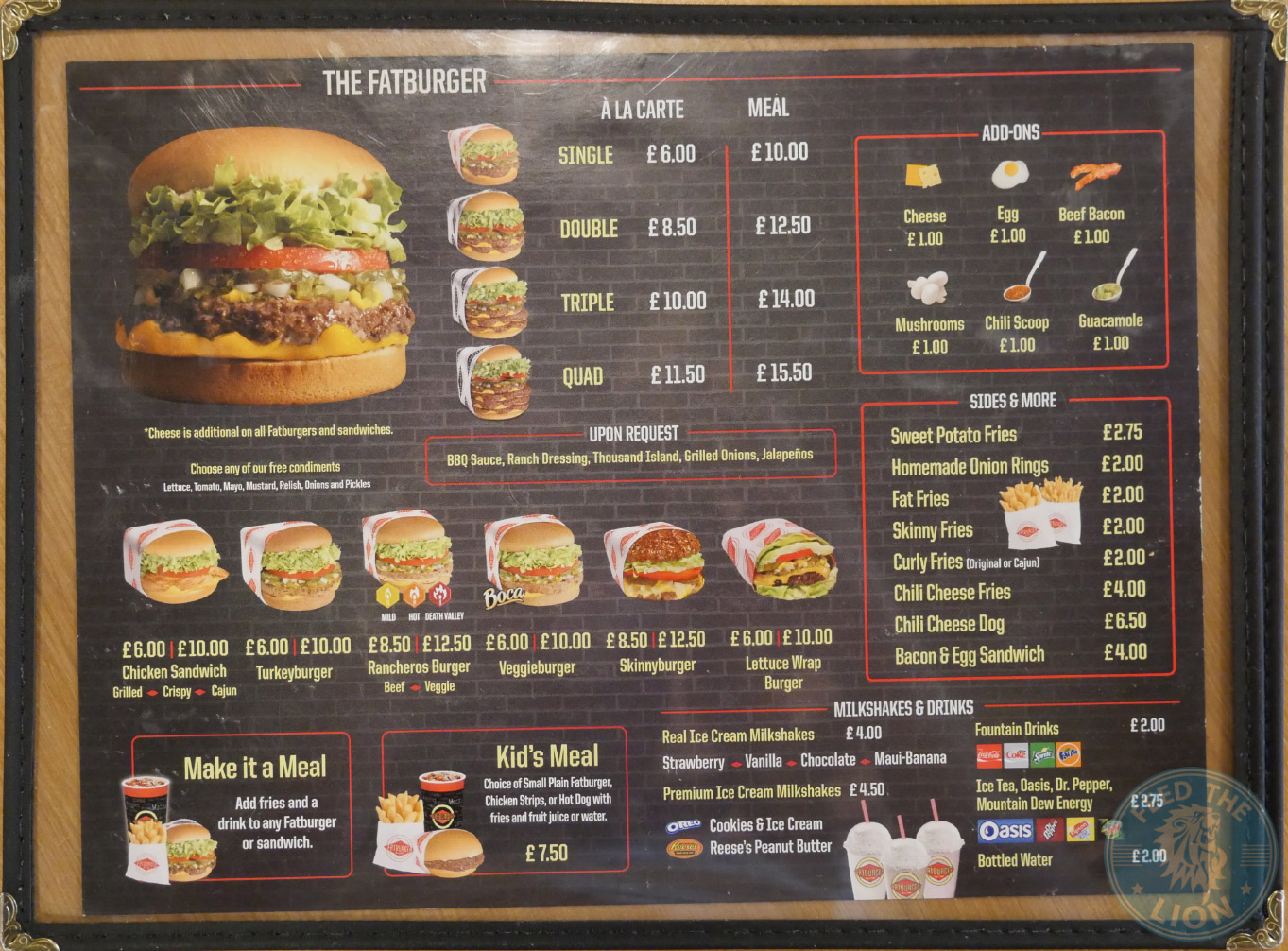 Fatburger  Camden Revisit  Feed the Lion