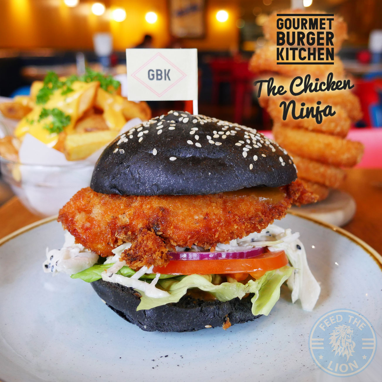 The Chicken Ninja  Gourmet Burger Kitchen  Feed the Lion