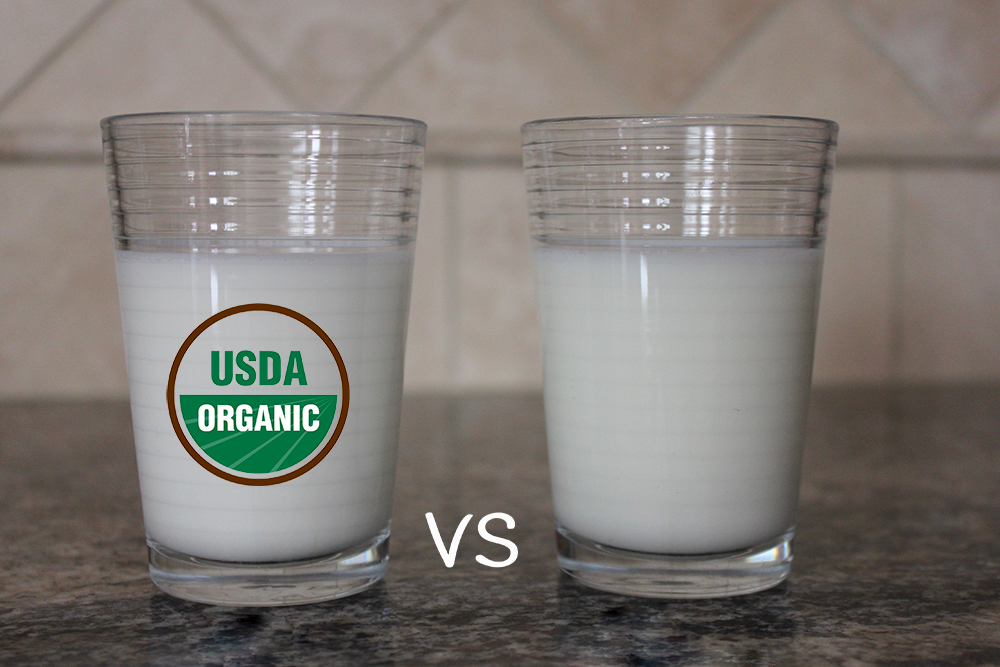The differences between organic and conventional milk