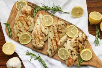 Whole30 Grilled Rosemary Lemon Chicken
