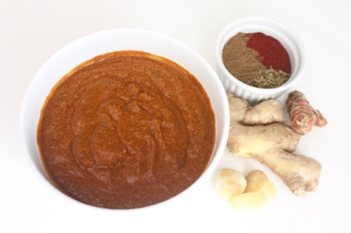 ingredients for paleo ginger turmeric chicken marinade