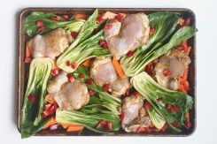 roasted sesame ginger chicken one pan meal ready to roast