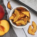 easy to make oven dried peach chips