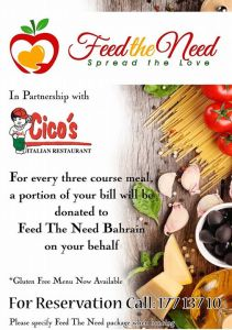 Feed the need Bahrain Event - Cico's
