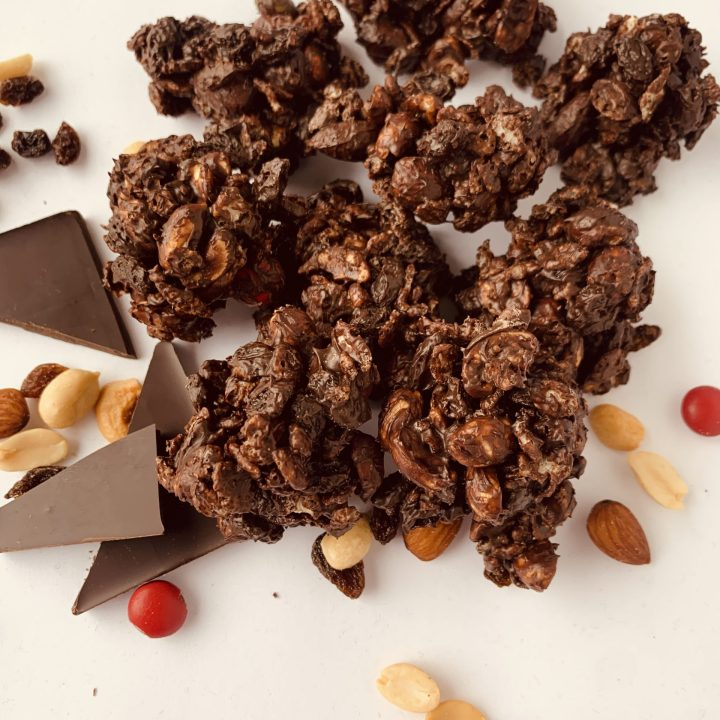 Chocolate Covered Trail Mix Clusters
