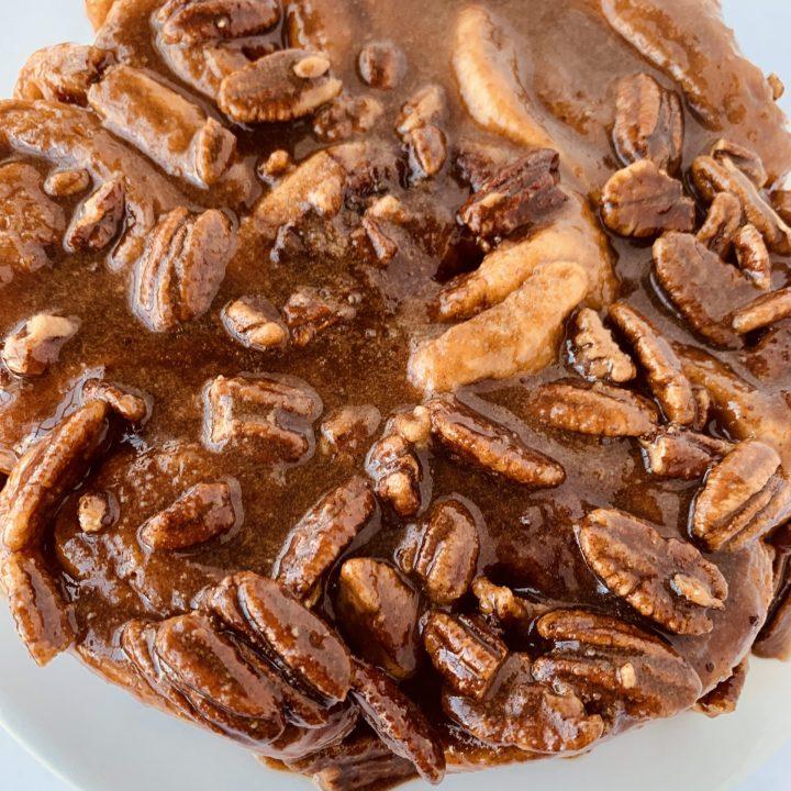 Sour Cream Caramel Rolls with Pecans