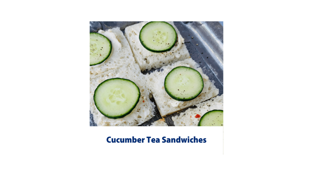Shows texture of cucumber sandwiches