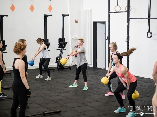 CrossFit Bloggertreffen von FEED YOUR FITNESS Kettlebell Swing