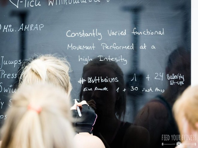 CrossFit Bloggertreffen von FEED YOUR FITNESS_WOD Board