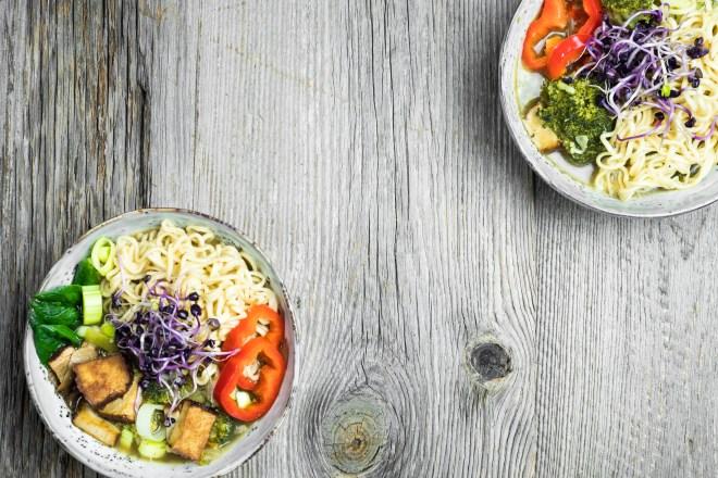 Veganes Ramen Gericht