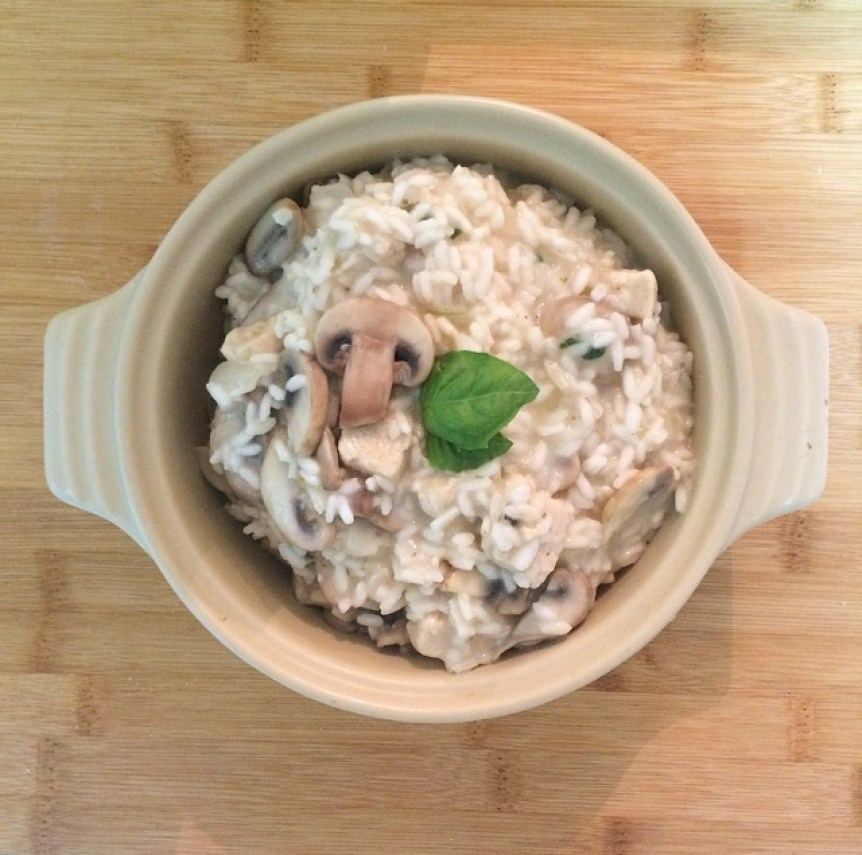 My Quorn and mushroom risotto