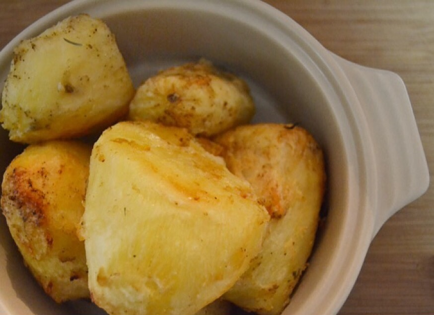 My coconut oil roasted potatoes