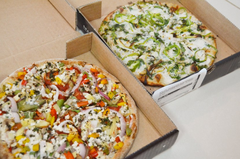 my 2 small pizzas from Freedom Pizza