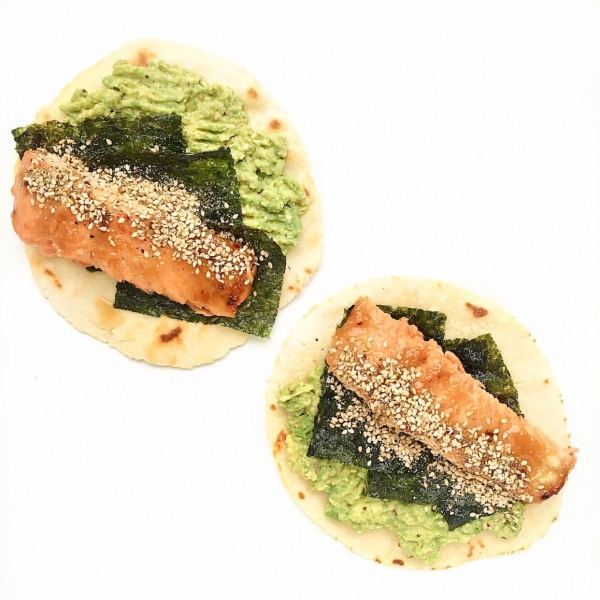Miso Maple Salmon Tacos