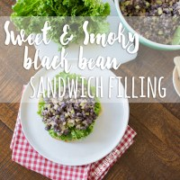 Sweet and Smoky Black Bean Sandwich Filling