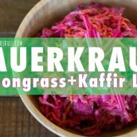 Lemongrass + Kaffir Lime Sauerkraut