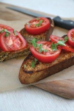 Feed Zone Cookbook tomatoes on toast