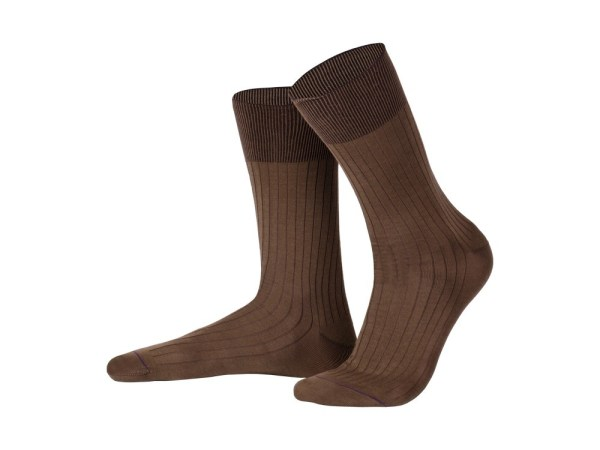 Rapport socks, Egyptian cotton (cappuccino), Luxury collection