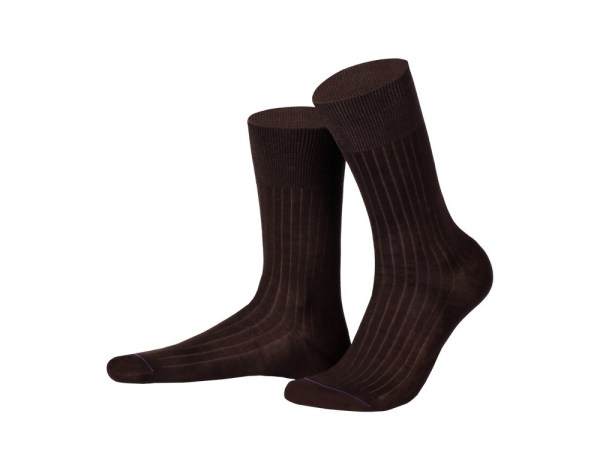 Rapport socks, Egyptian cotton (chocolate), Luxury collection
