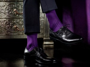 Rapport socks, Egyptian cotton (violet), Luxury collection