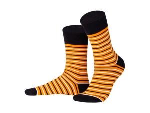 "Socks ""Narrow orange stripes"", Creative collection"