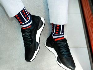"""Шкарпетки """"Синьо-червоні полоски"""" колекція Creative"""