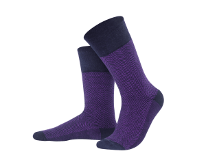 Jacquard dark blue + violet socks, Creative collection
