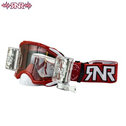 RnR Rip n Roll Adult Platium Wide Vision Roll Off Goggles Red