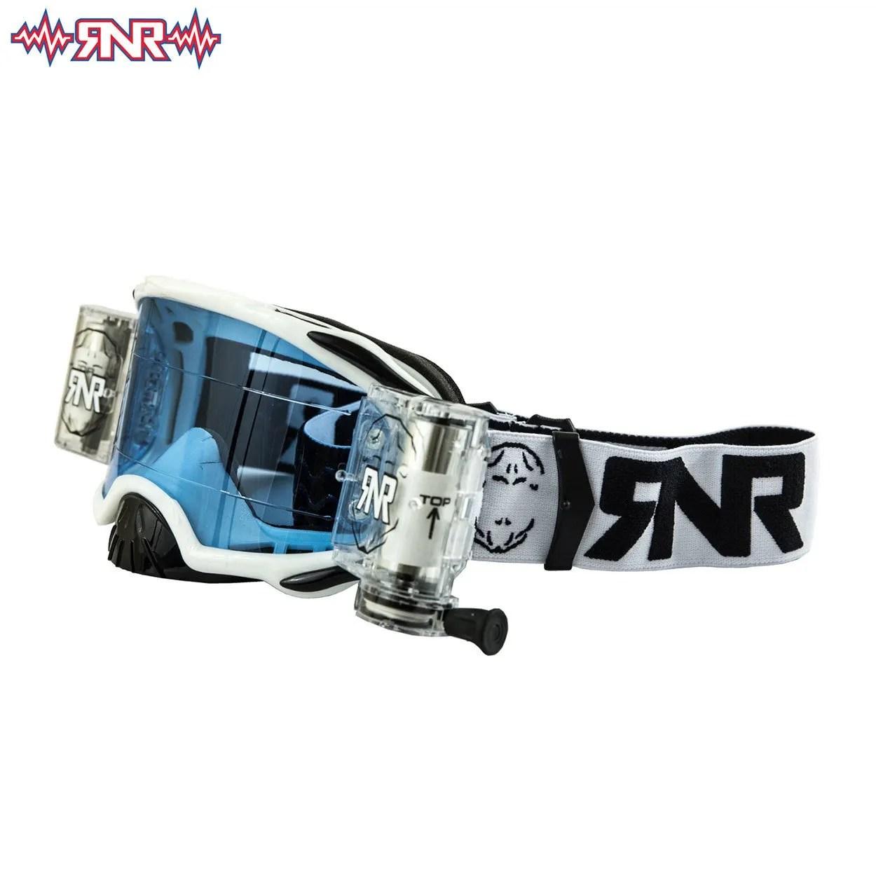 Rip N Roll Colossus Wide Vision System Motocross Goggles WVS MX RNR Black