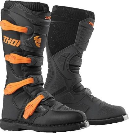 Thor MX Blitz XP Boots Charcoal Orange