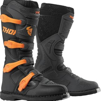 Thor MX Blitz XP Boots Charcoal Orange