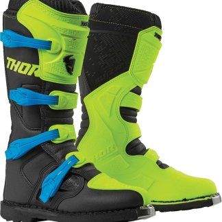 Thor MX Blitz XP Boots Flo Green Black