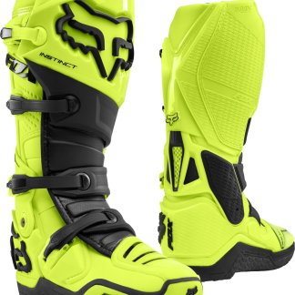 Fox Racing Instinct Fluorescent Yellow Boots Adults 2020