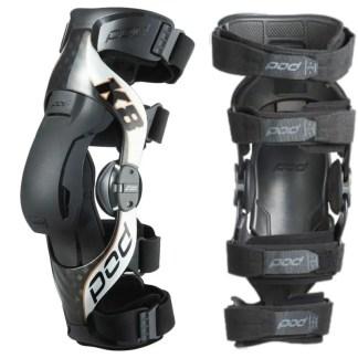 Pod Mx K8 2.0 Knee Braces Carbon Silver Adult